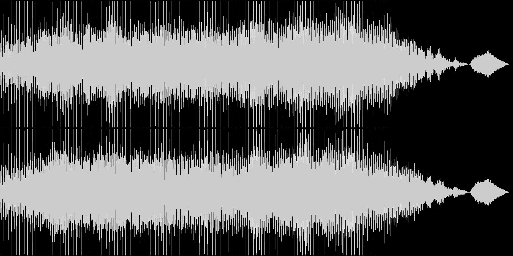 明るく未来的なシンセポップの未再生の波形