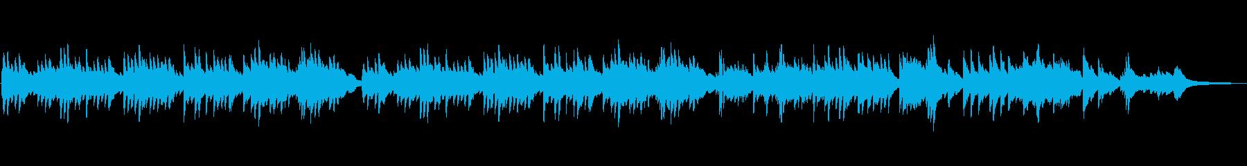 優しく静かなピアノソロ曲の再生済みの波形