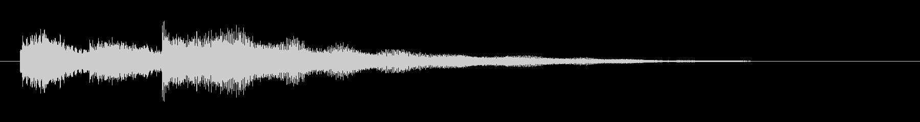 ギターによる爽やかなサウンドロゴの未再生の波形