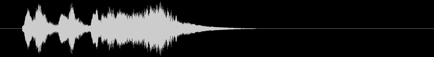 軽いオーケストラ風の喜びジングル2の未再生の波形
