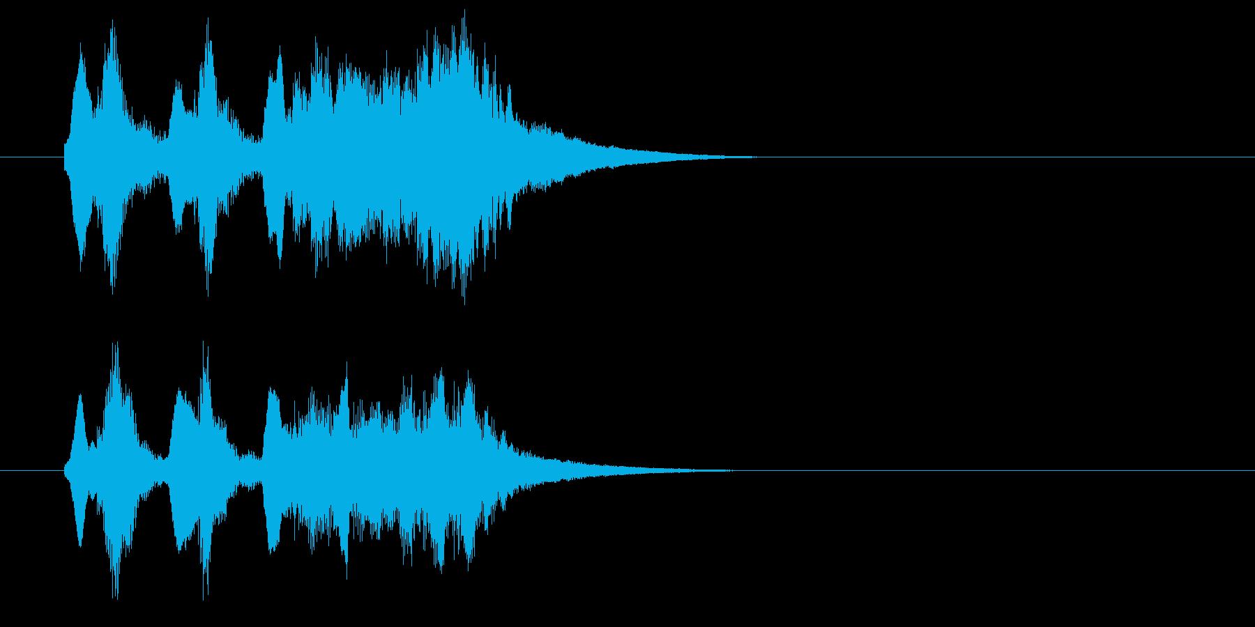 軽いオーケストラ風の喜びジングル2の再生済みの波形