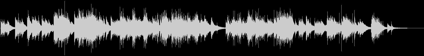 情感溢れる感動的なピアノバラードの未再生の波形