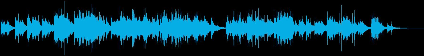 情感溢れる感動的なピアノバラードの再生済みの波形