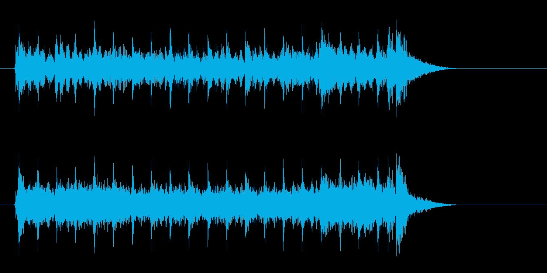 ドラマが始まるような音楽の再生済みの波形