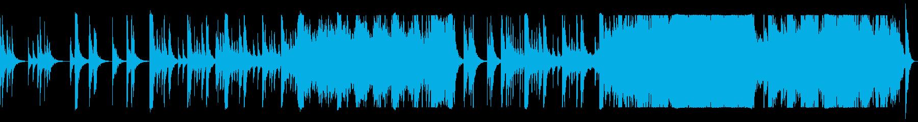 ダイナミックなオーケストラ曲の再生済みの波形