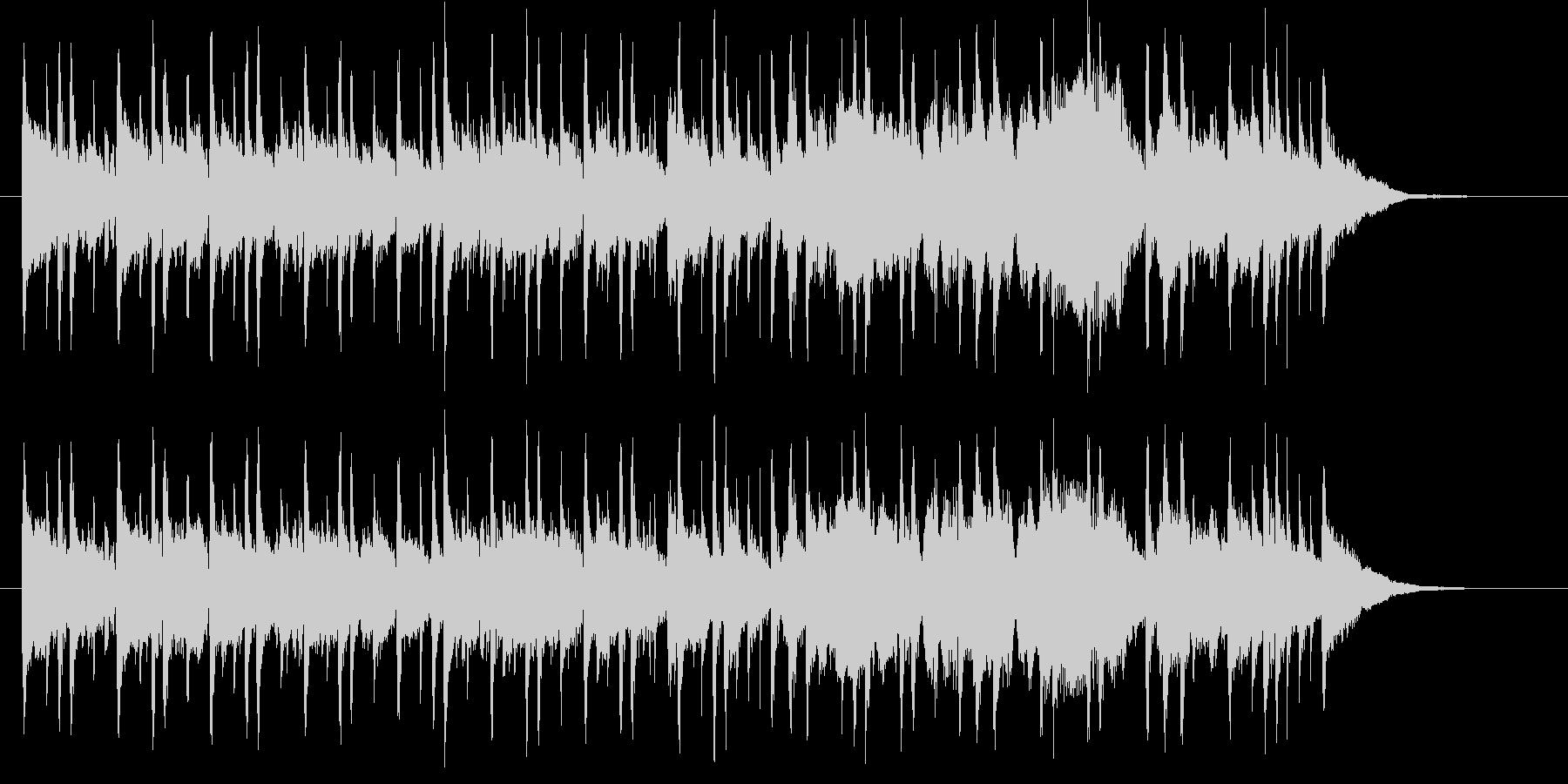 和やかでゆったりした音楽の未再生の波形