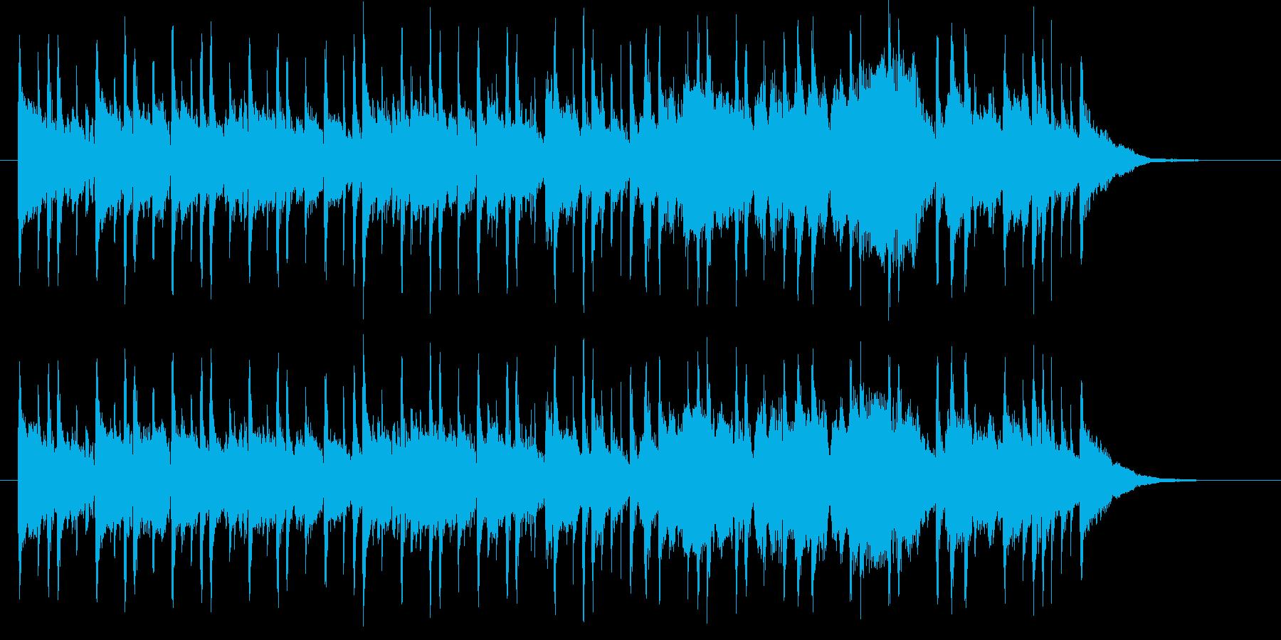 和やかでゆったりした音楽の再生済みの波形