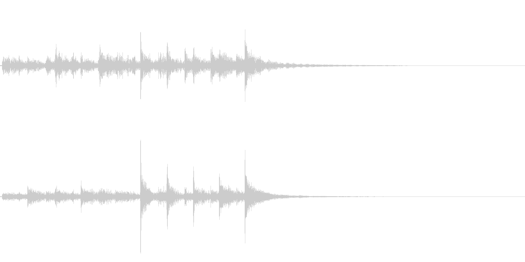 ティンパニ、(手)、アクセント、シ...の未再生の波形