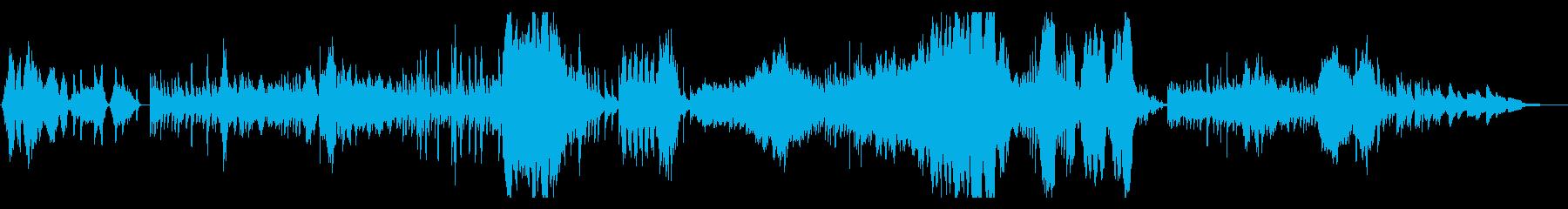 ドビュッシー 神聖な舞曲 ハープと弦の再生済みの波形