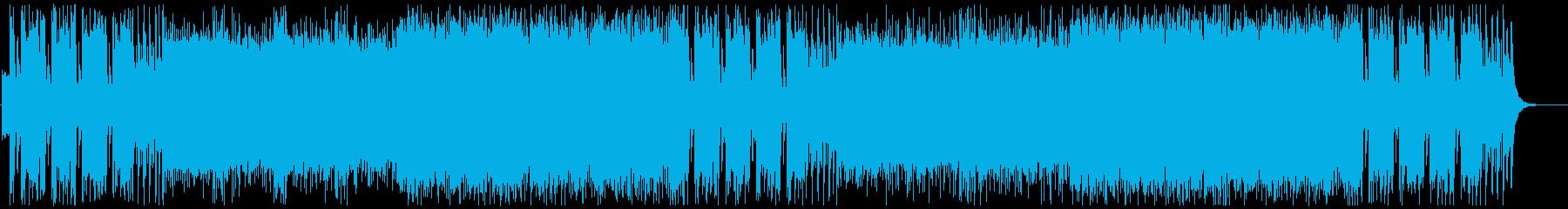 戦隊モノ風のダサカッコいいBGMの再生済みの波形