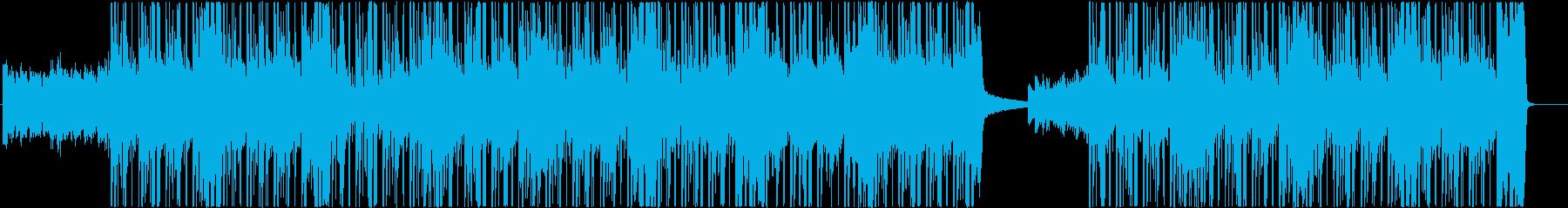ダークな雰囲気で迫力あるメロディーの再生済みの波形