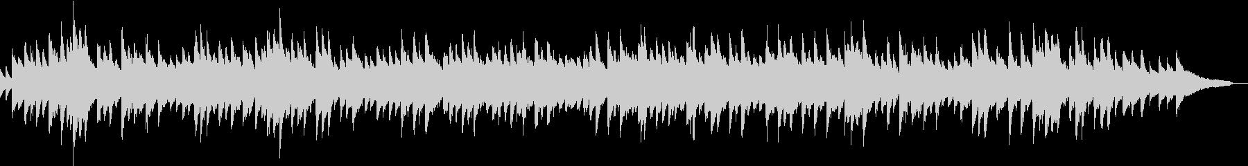 和風のピアノソロの未再生の波形
