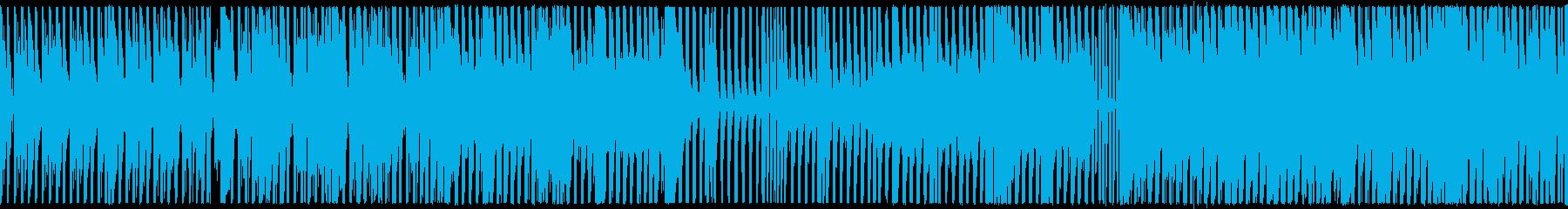 ループ,シリアス,アブノーマルBGMの再生済みの波形