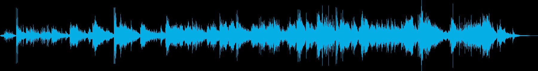 夢見ている様子を表現した即興ピアノ曲の再生済みの波形