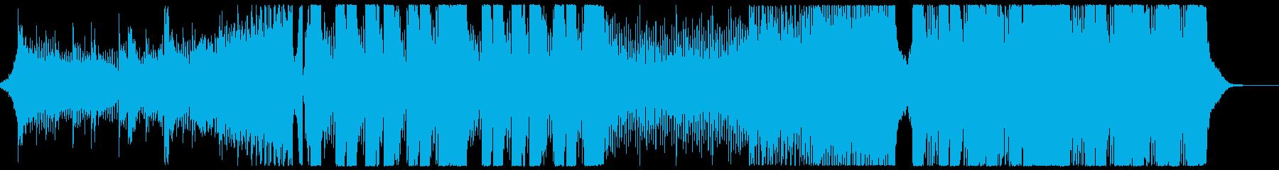 ワクワク感のあるダブステ曲の再生済みの波形