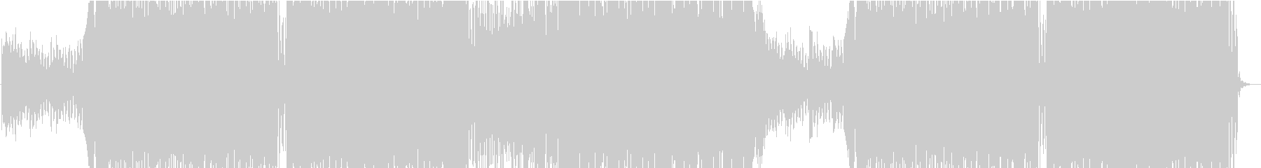 ゆったりとした明るいEDM_02の未再生の波形