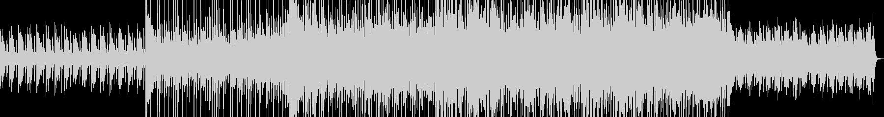 アップテンポなロック調のダンス曲の未再生の波形