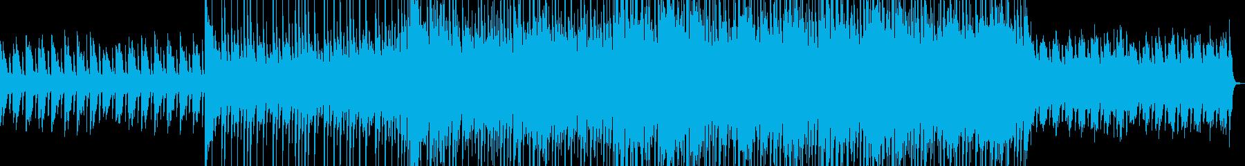 アップテンポなロック調のダンス曲の再生済みの波形