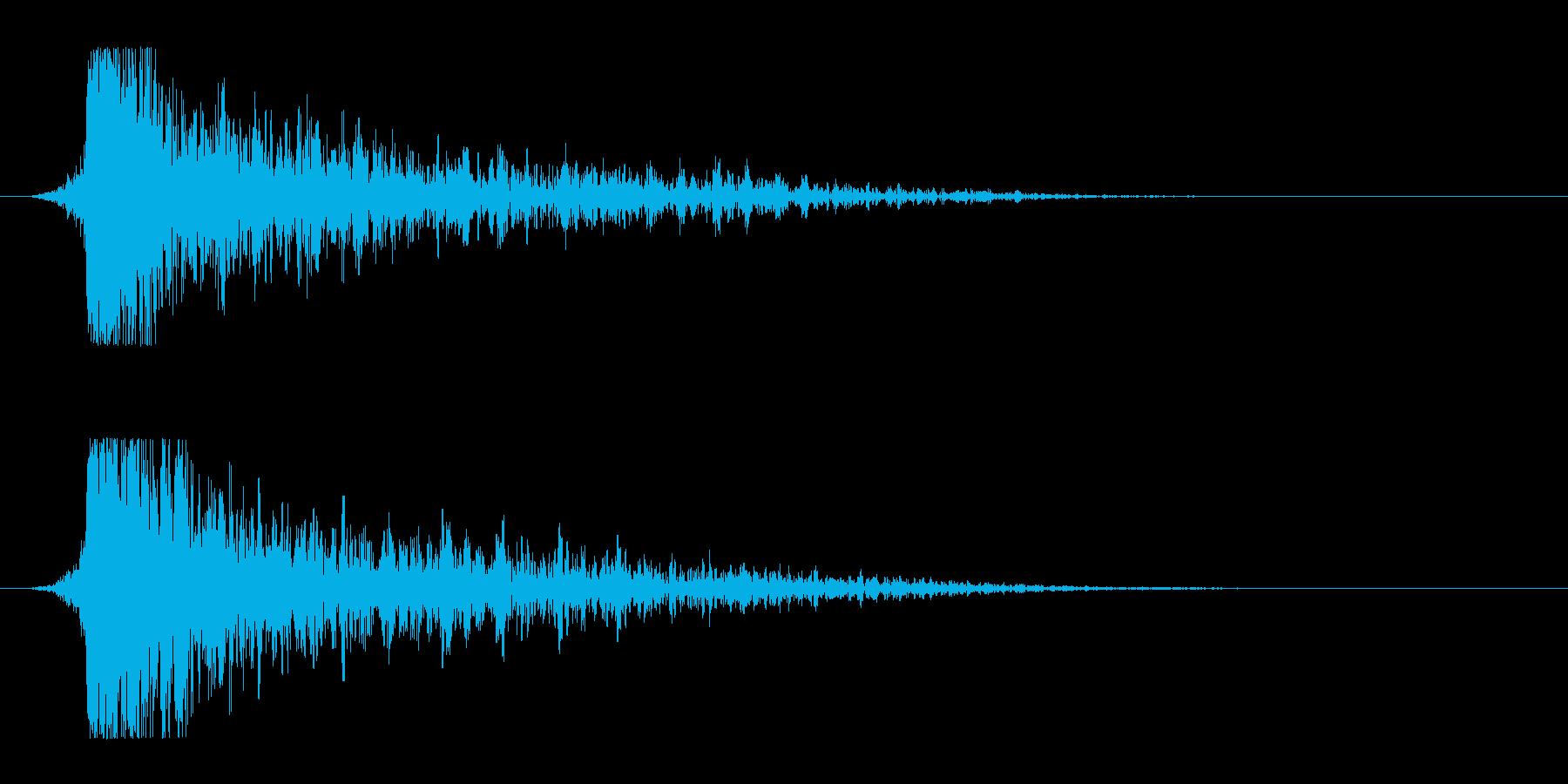 シュードーン-12(インパクト音)の再生済みの波形