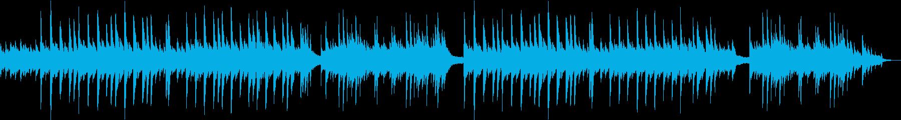 優しいイメージのソロピアノ曲の再生済みの波形