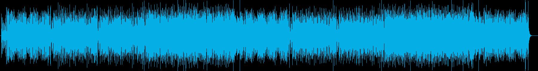 疾走感と楽しげなシンセサイザーサウンドの再生済みの波形