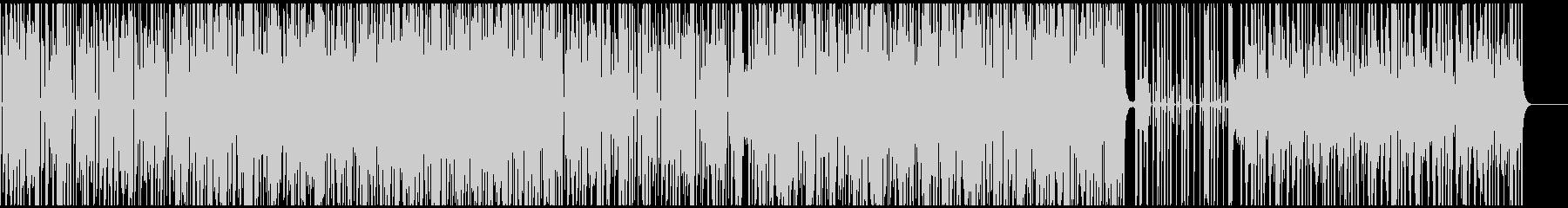 ファンキーなオルガンのクールなBGMの未再生の波形