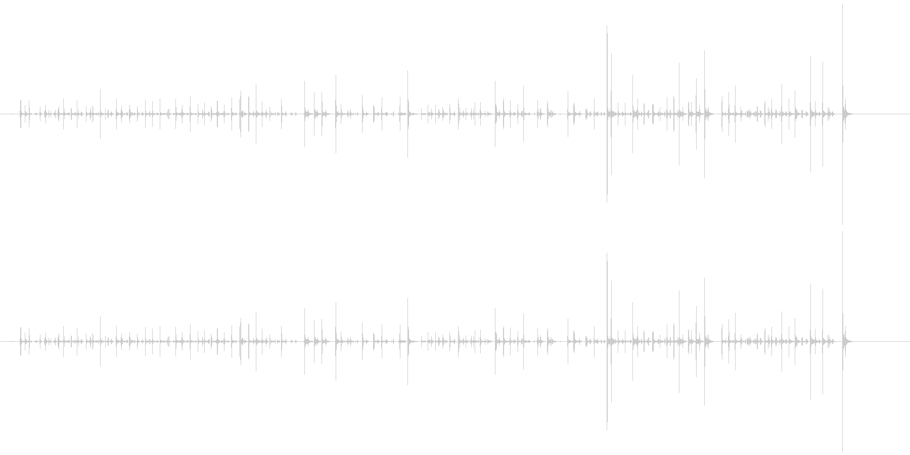 キーボードを叩く音(オフィス環境音)の未再生の波形