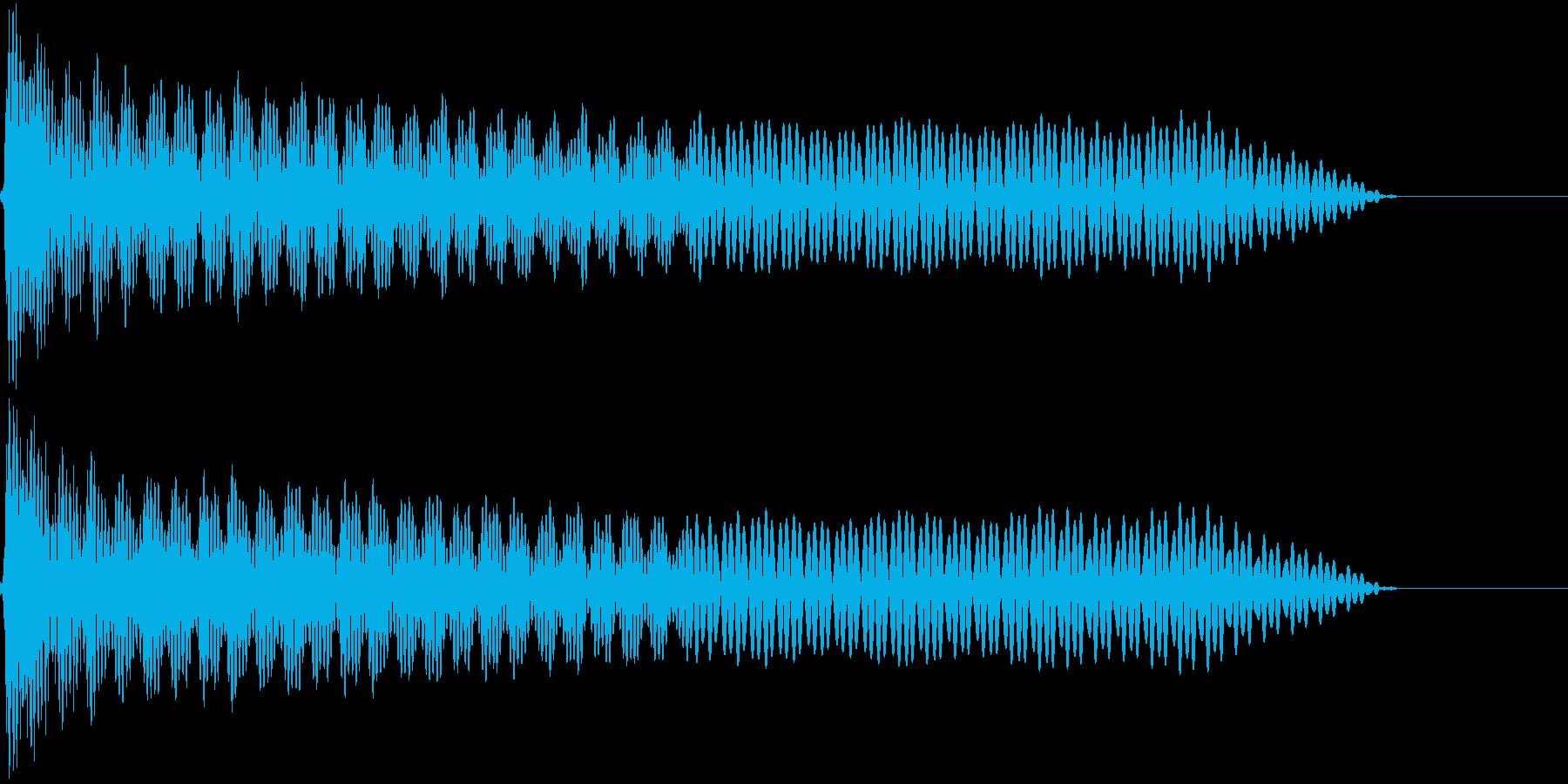UI系 カーソル選択 ティロの再生済みの波形