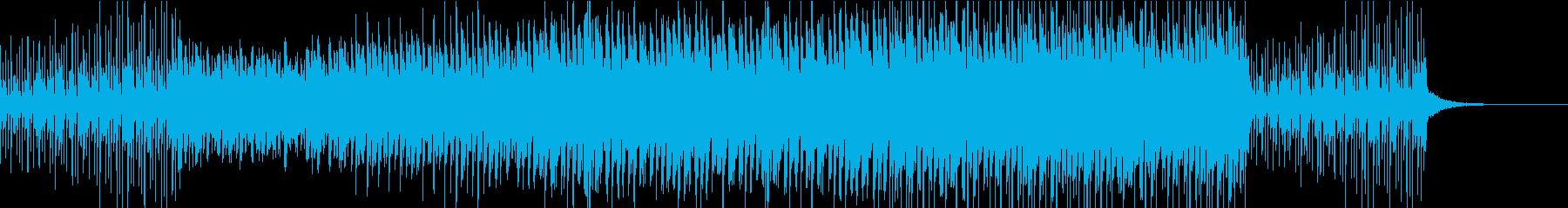イベントの登場シーン等に お洒落なテクノの再生済みの波形