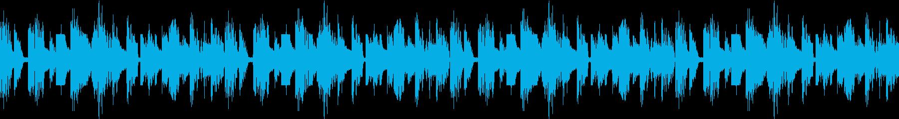 ブレイクビーツのようなエレクトロサウンドの再生済みの波形