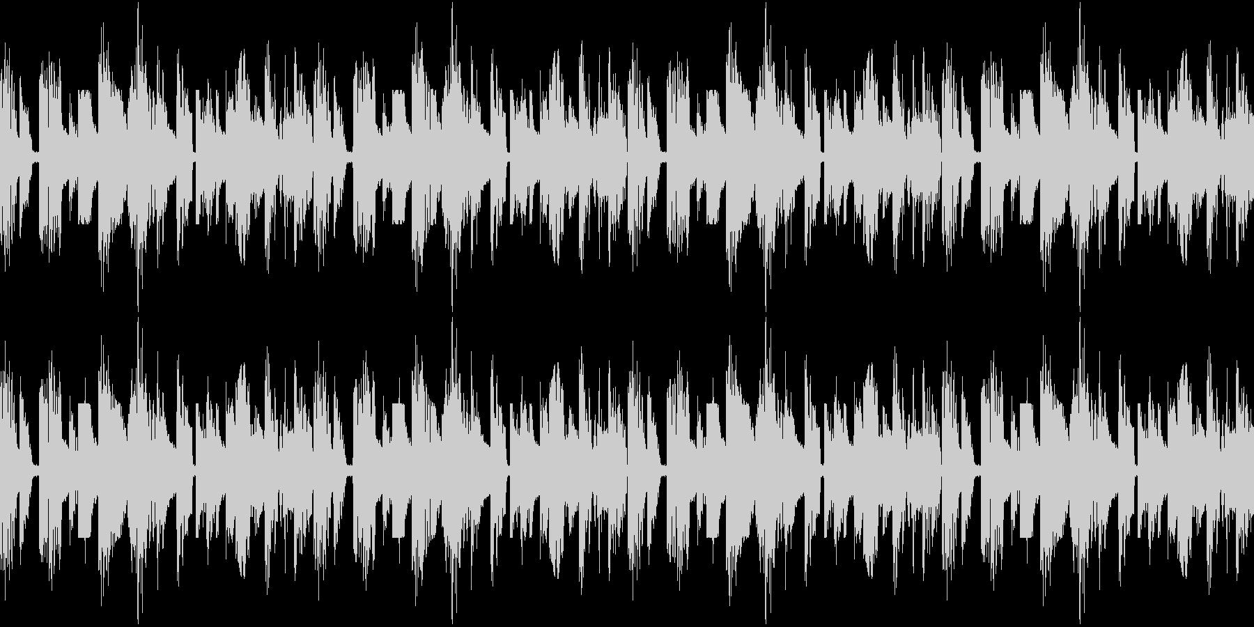 ブレイクビーツのようなエレクトロサウンドの未再生の波形