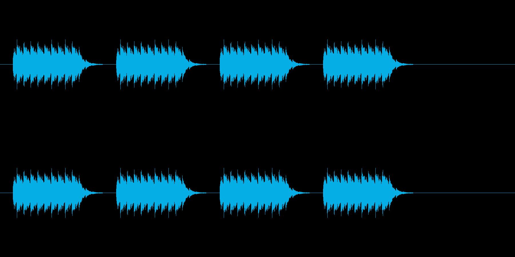 【電子音】スマホ・ケータイの着信音の再生済みの波形