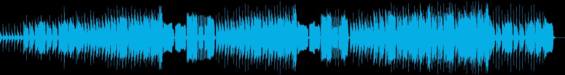 のんびりとしたくつろぎのフエの曲の再生済みの波形
