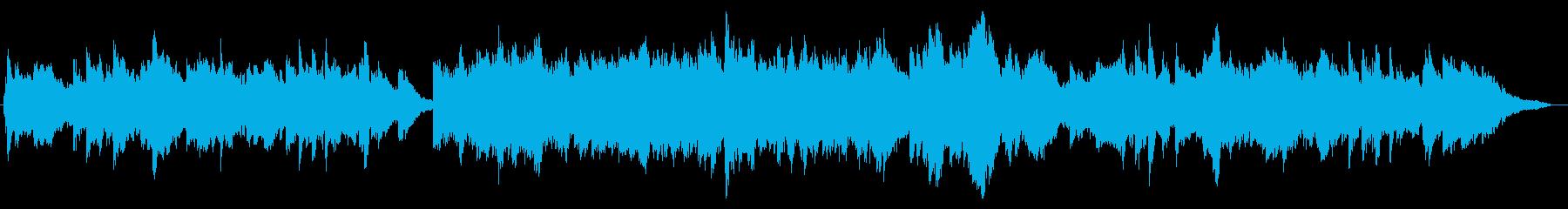 ほんのり和風のアップテンポのピアノ60秒の再生済みの波形