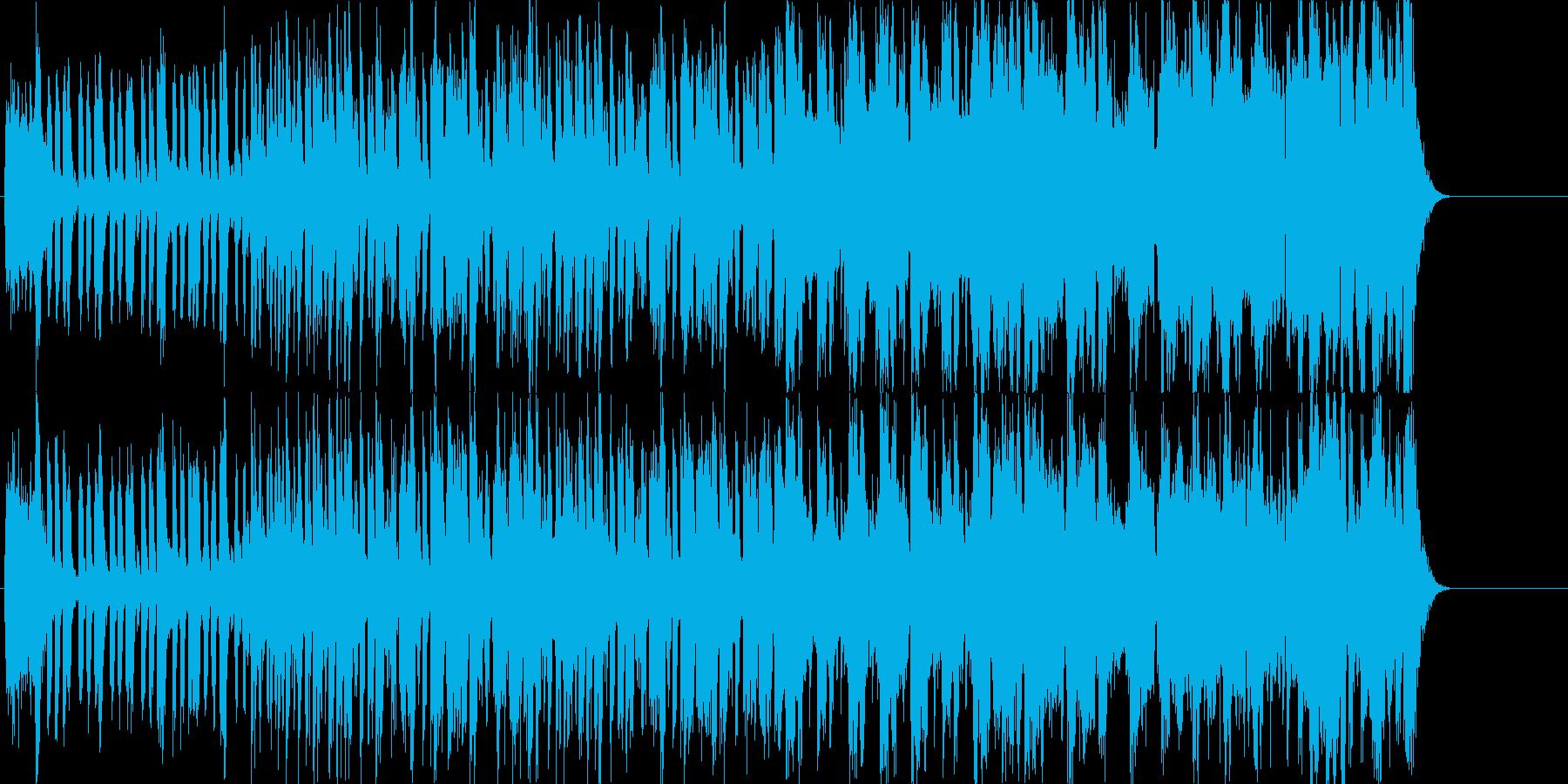 アクション映画風の和テイストのメロディの再生済みの波形