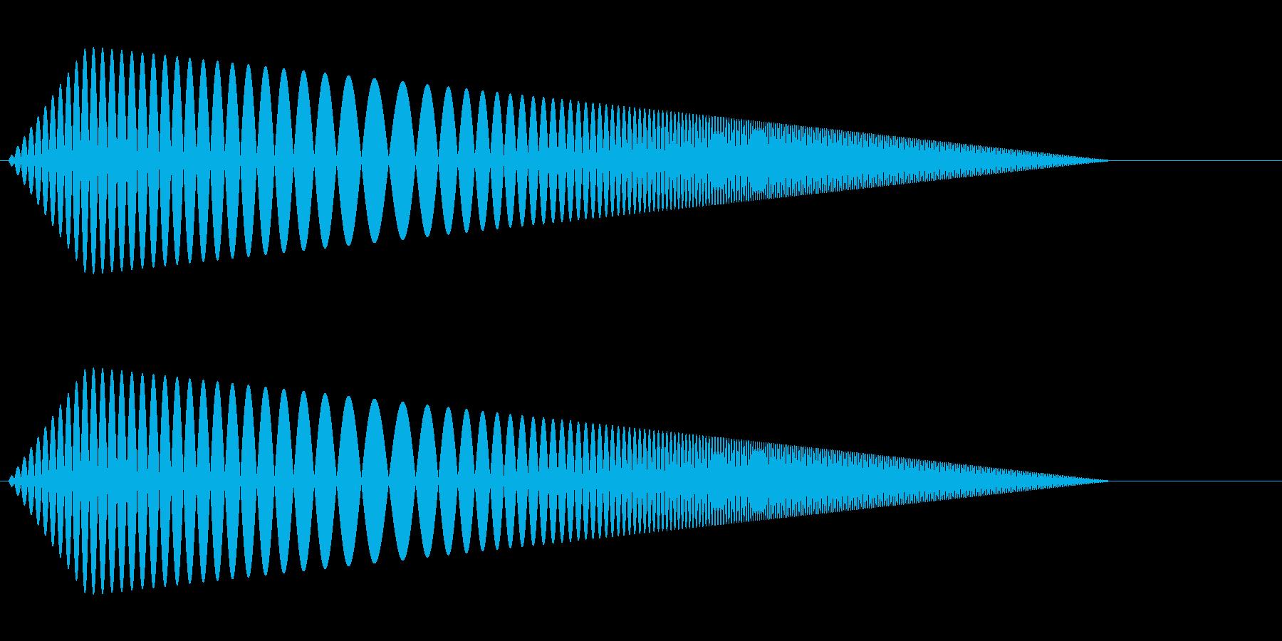 【コミカル】肉球・足音・スタンプ3の再生済みの波形