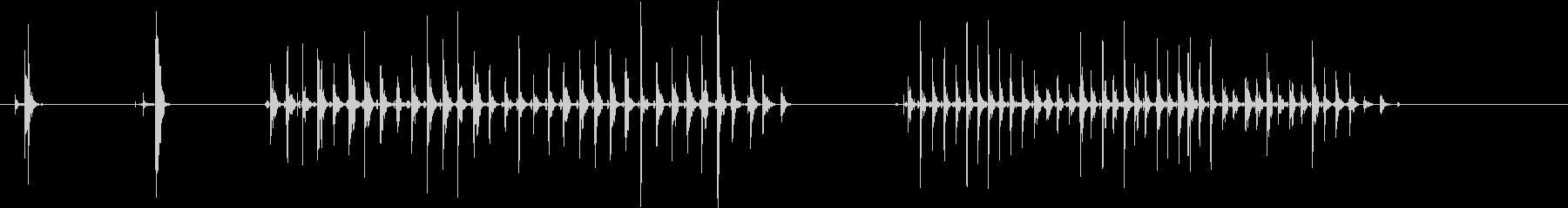 素足-女性1の未再生の波形