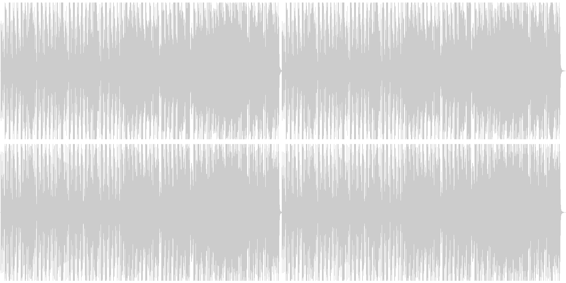 おしゃれなカフェBGMの未再生の波形