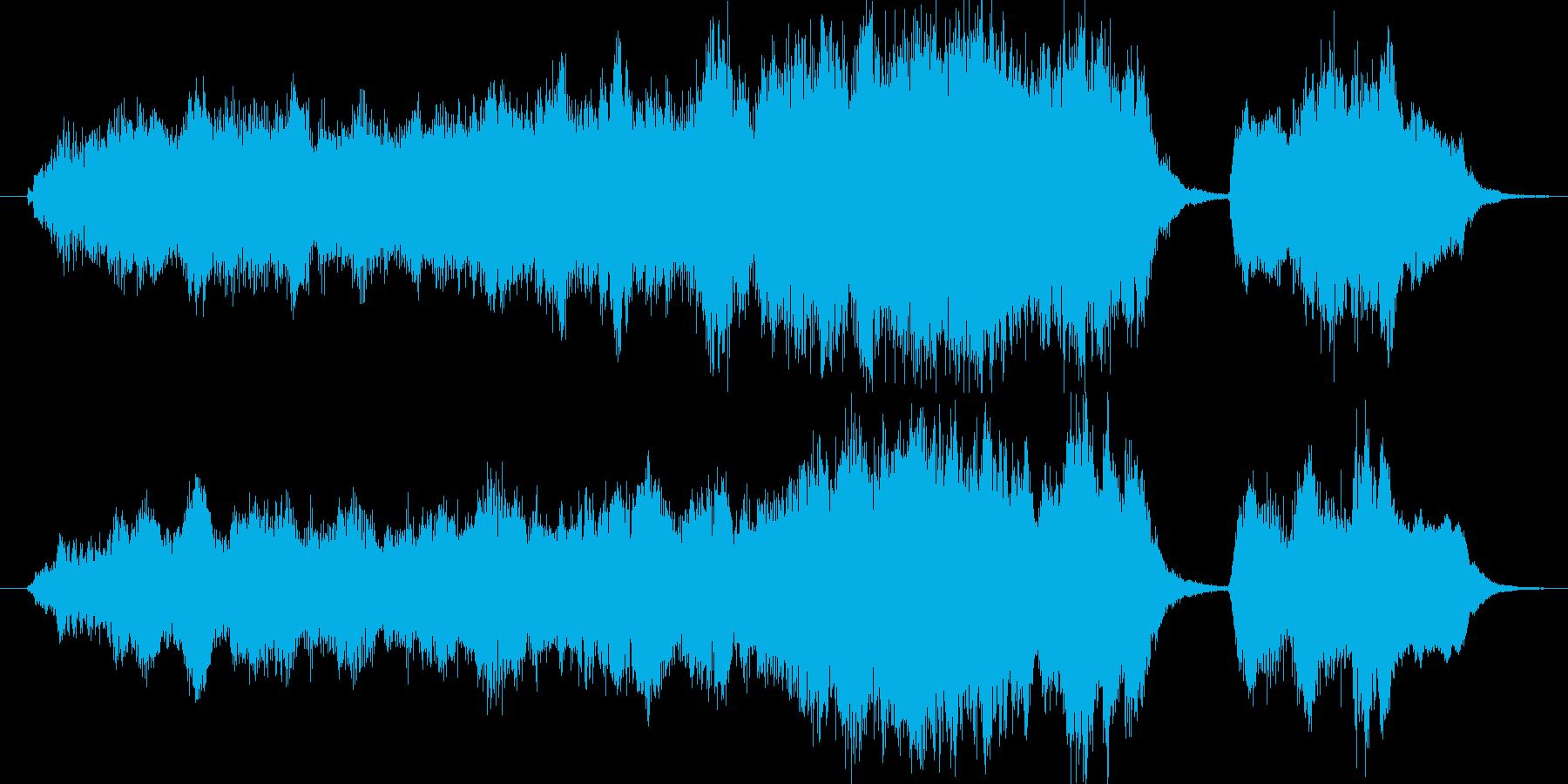 懐かしく壮大な心温まる楽曲の再生済みの波形