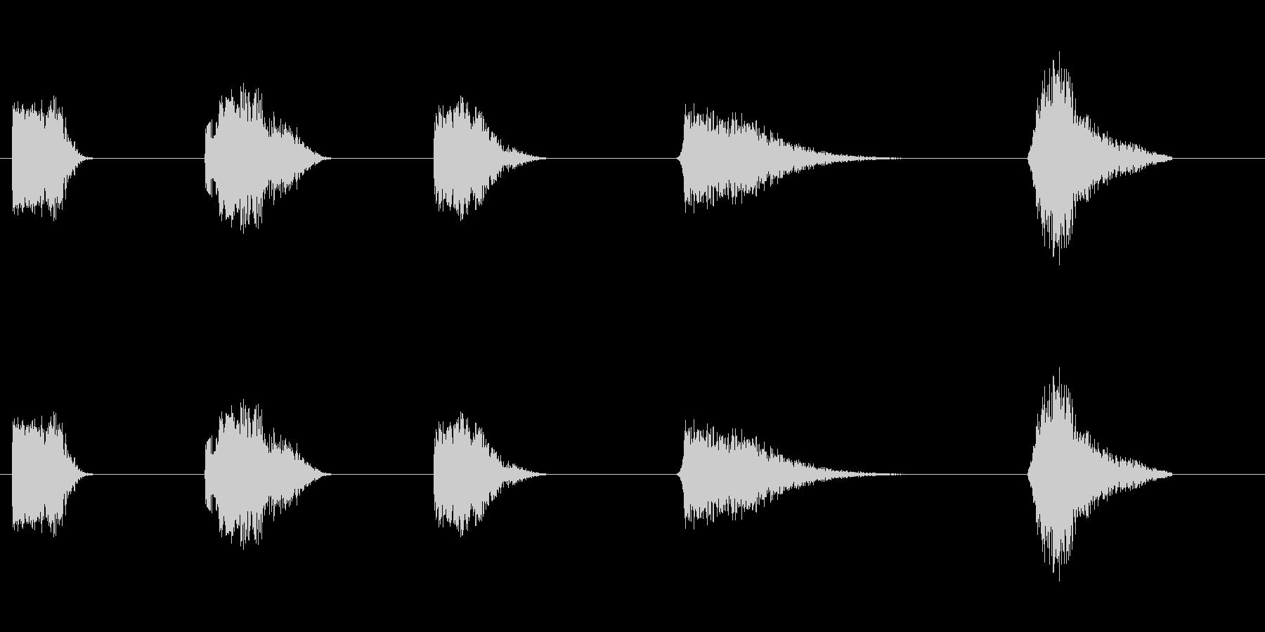 通過中に爆発宇宙船が爆発する(5バ...の未再生の波形