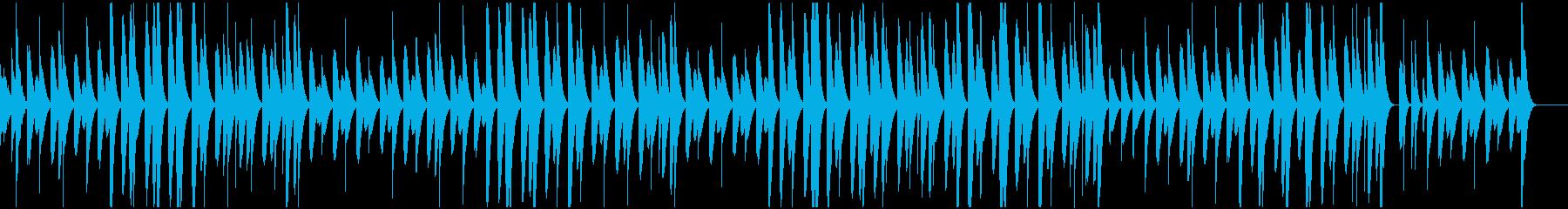 マリンバによるほのぼのとしたBGMの再生済みの波形
