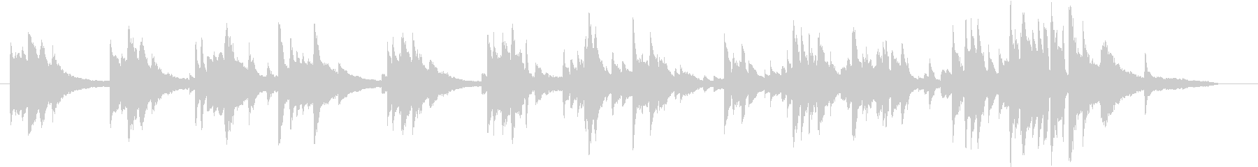 生ピアノ録音-青空のように澄んだメロディの未再生の波形