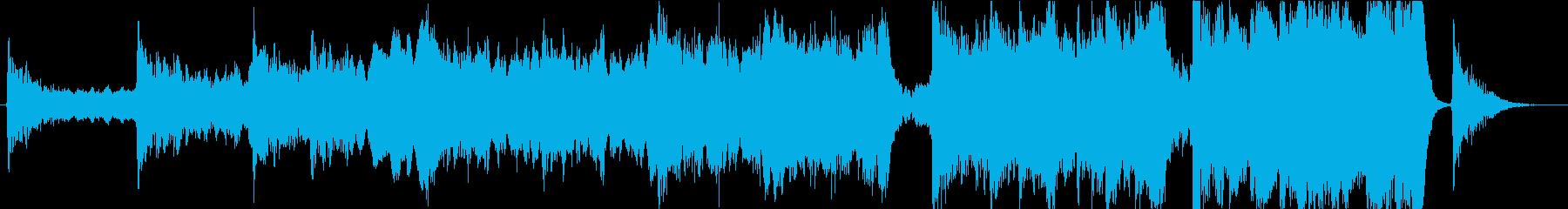 映画トレイラー系オーケストラ+シンセの再生済みの波形