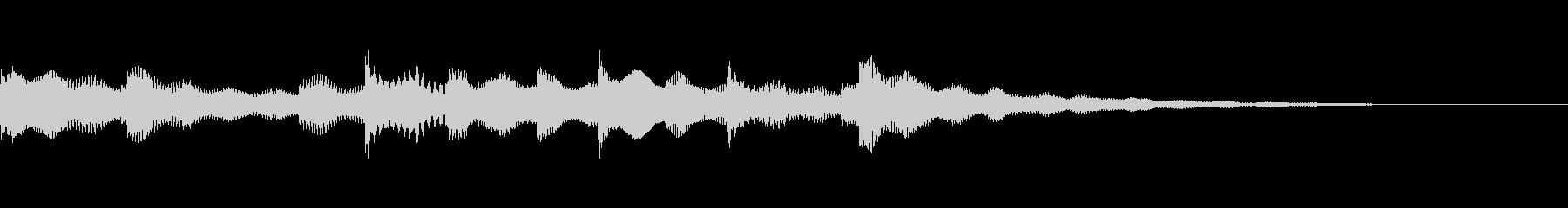 癒される雰囲気のエレピジングルの未再生の波形
