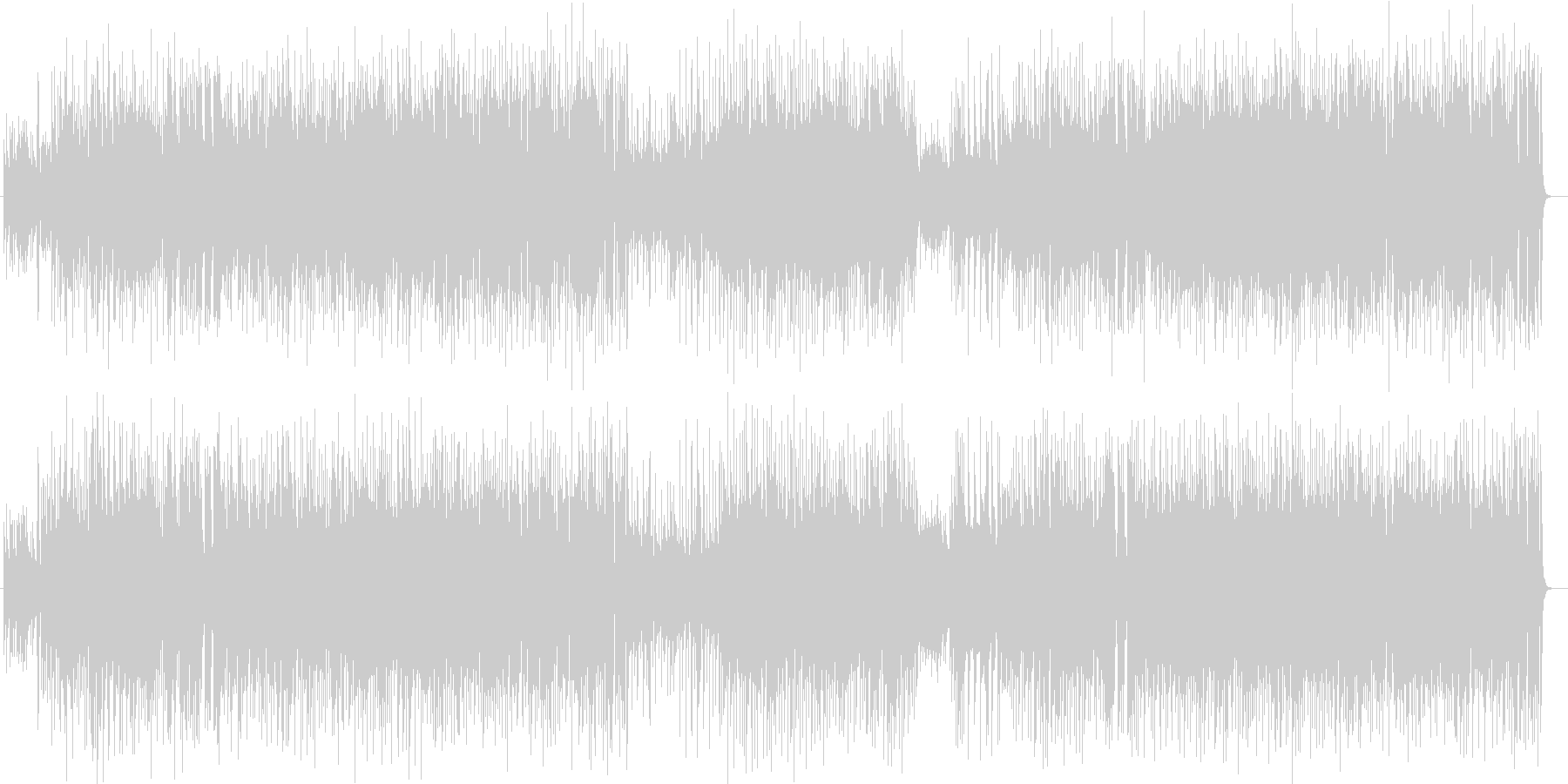 爽快なピアノ・ギターのポップサウンドの未再生の波形