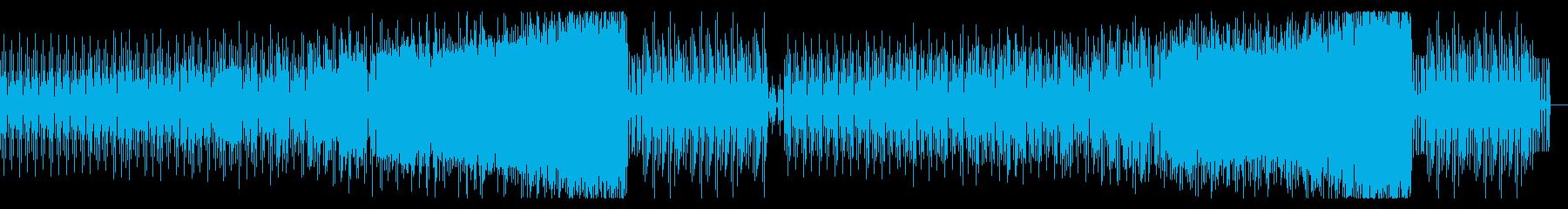 四つ打ちミニマル風BGMの再生済みの波形