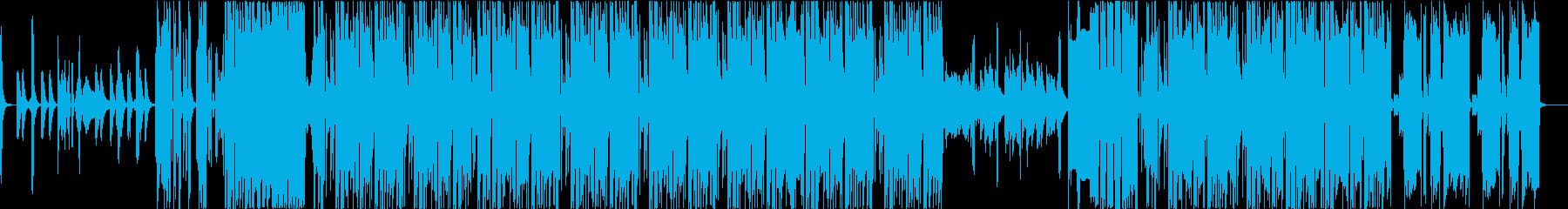 おどろおどろしいエレクトロニックの再生済みの波形
