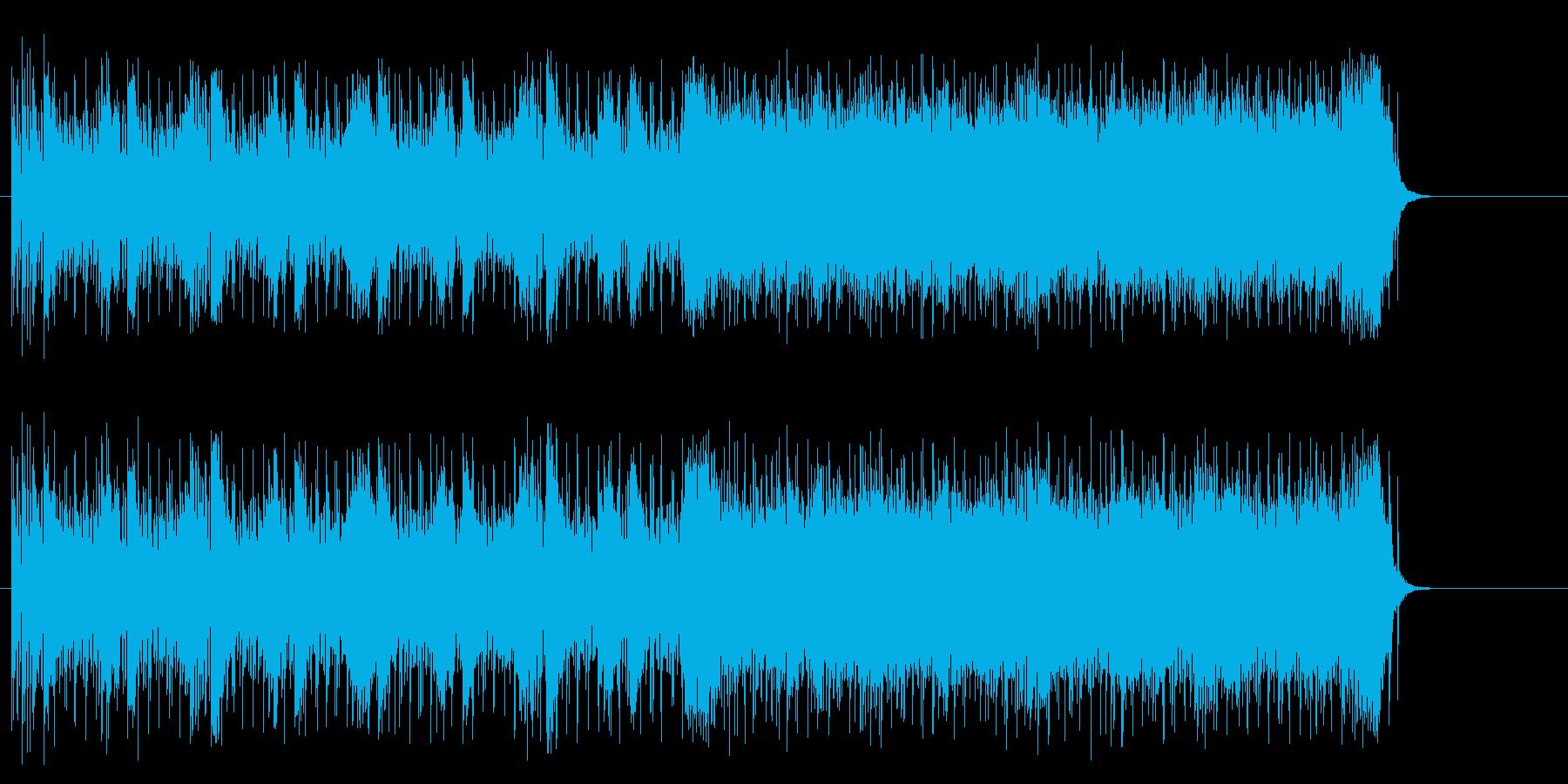 ギターが攻撃的なマイナーハードポップスの再生済みの波形