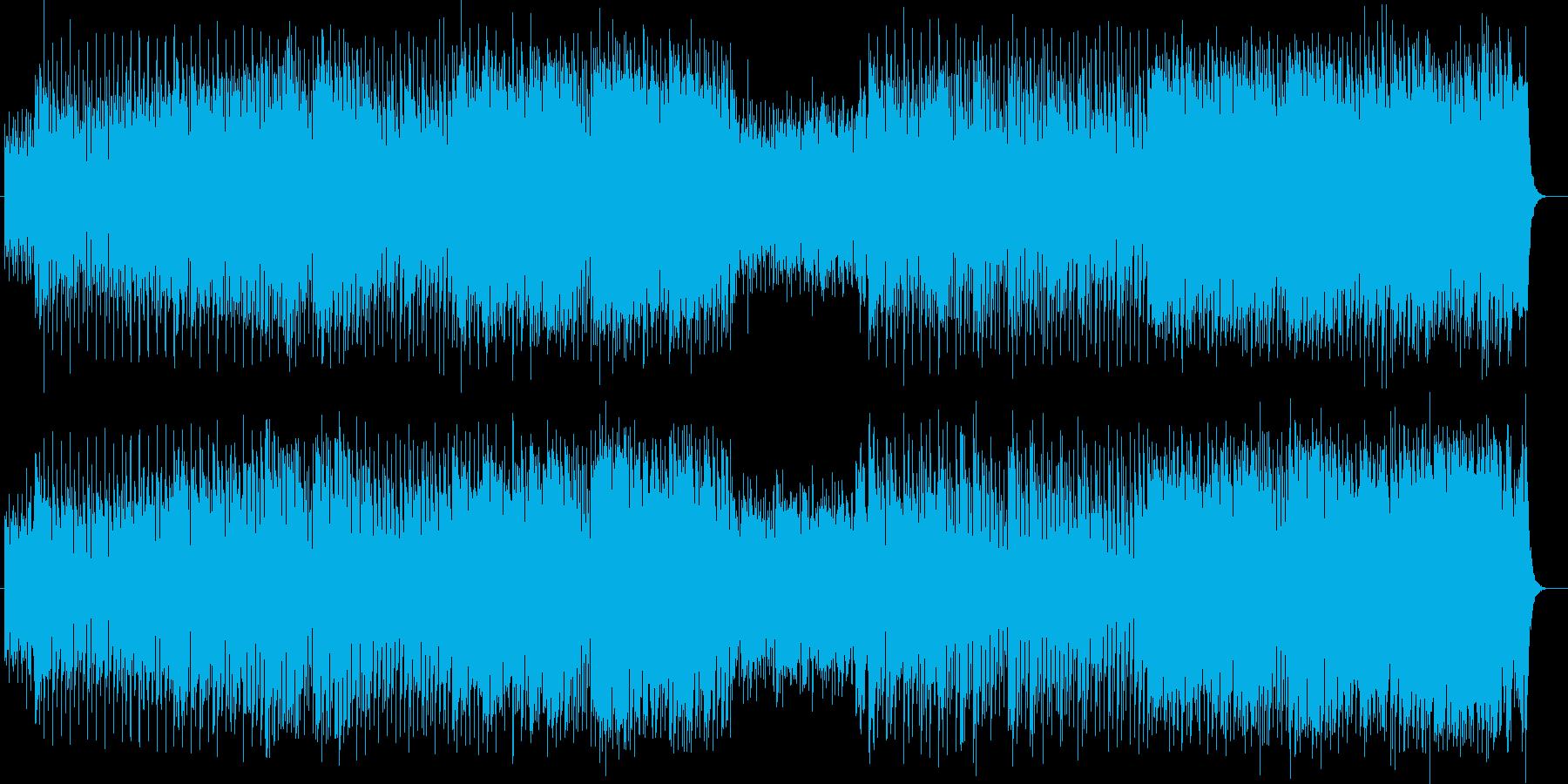 軽快でアコースティックな音色が心地よい曲の再生済みの波形
