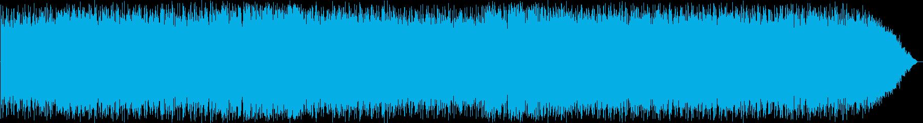 力強いケーナのニューエイジ音楽の再生済みの波形